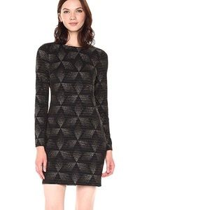 NWT Vince Camuto Black & Gold Dress